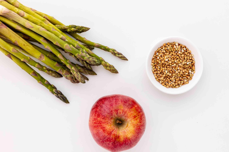 Asparagus, apple, and buckwheat