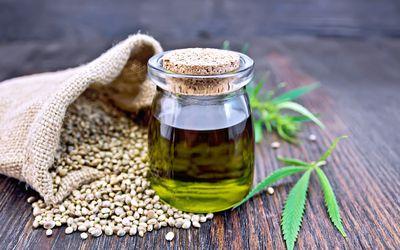 Hemp oil in a jar - hemp oil for skin