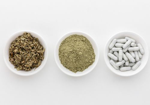 Coltsfoot dried herb, powder, and tablets