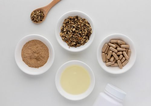 Elecampane dried root, powder, tincture, and capsules