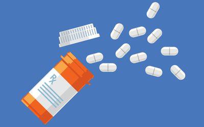Illustration of a pill bottle.