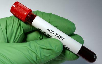 Blood test tube for hCG test