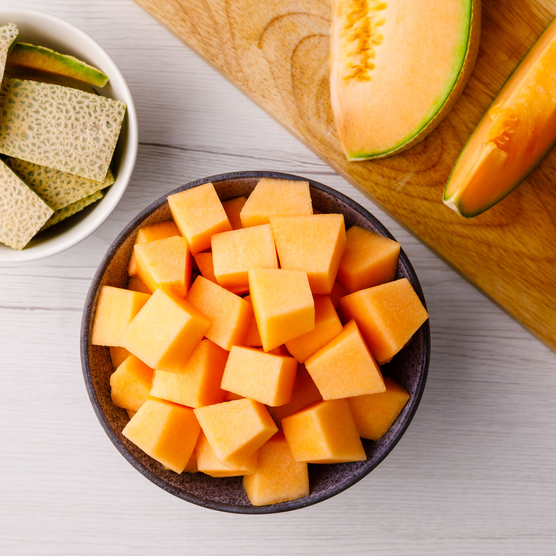 Cantaloupe Allergy / This cantaloupe fruit bowl is sure to be a hit at any party or even lunch.