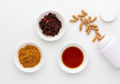 Rose hip powder, tincture, and tea