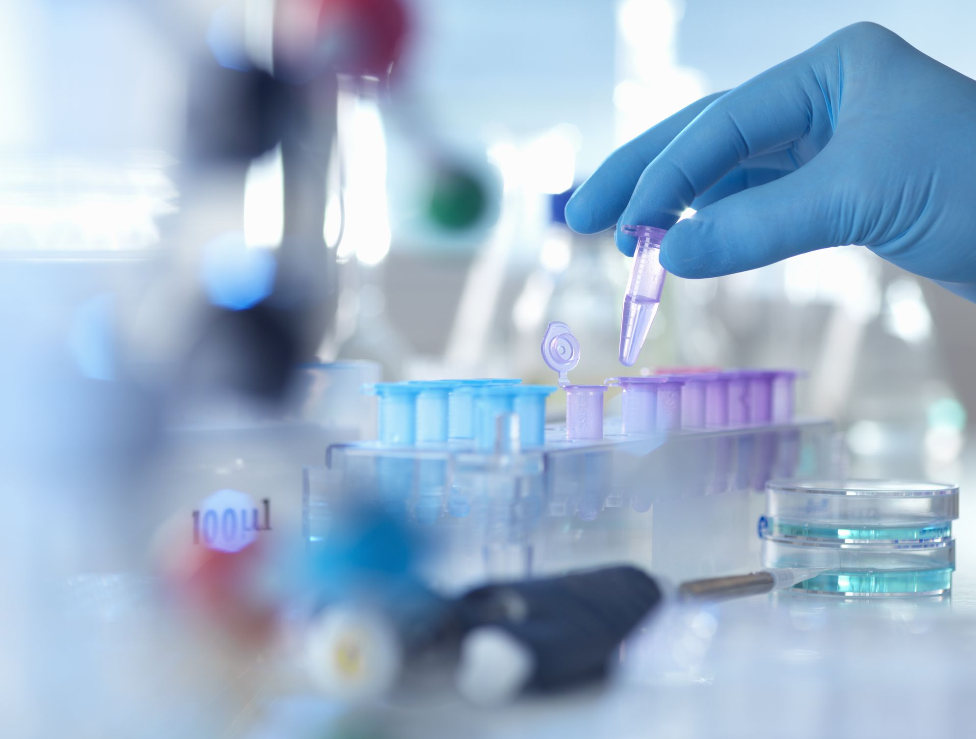 Genetic Testing tubes and equipment