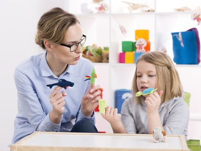 Using toys during play therapy