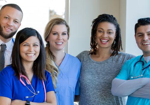 Diverse health care team