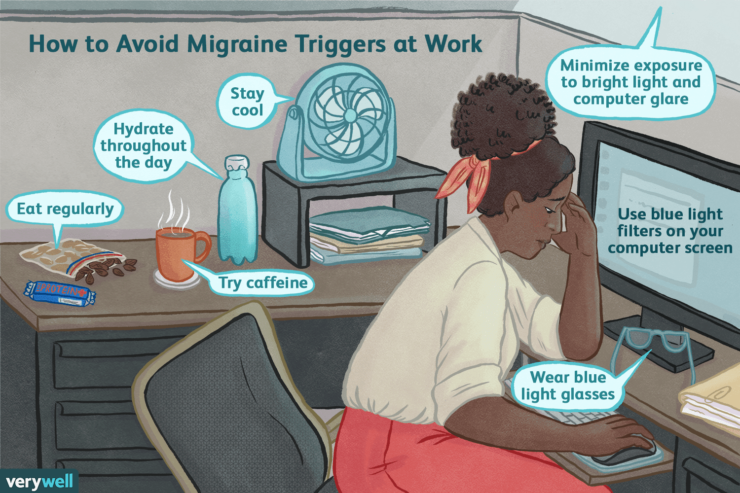 coping with migraines at work