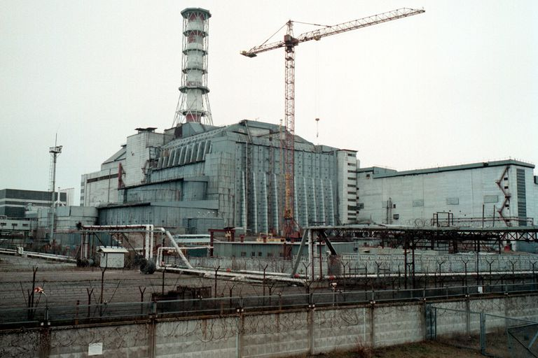 A view of the Chernobyl power plant