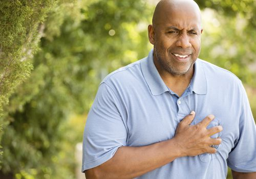 A man on a walk with chronic chest pain