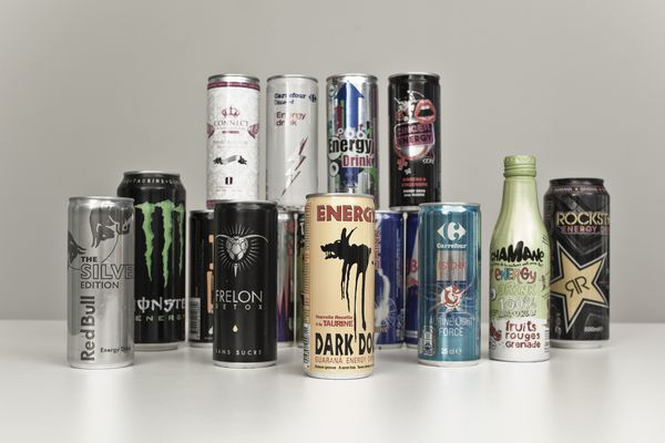 Energy drinks display