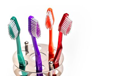 Family group of Toothbrushes