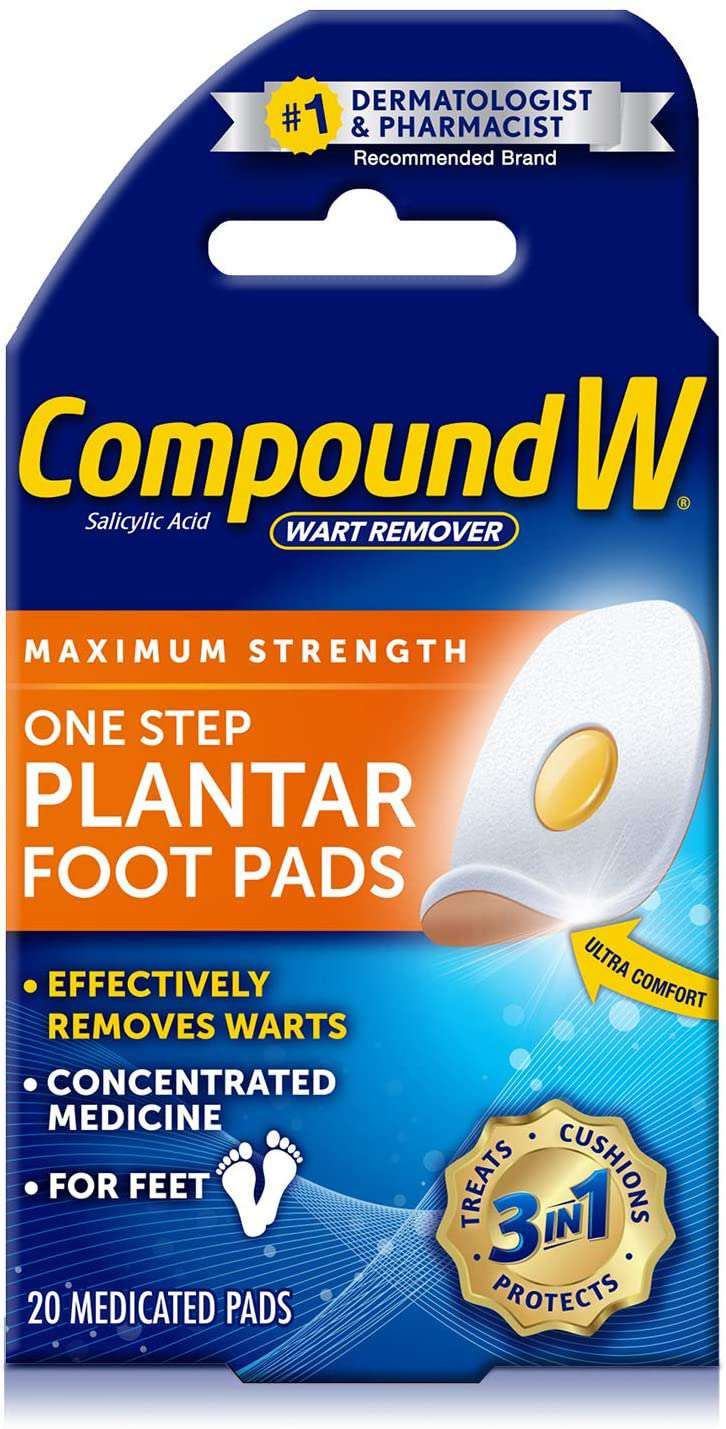 Compound W Maximum Strength One Step Plantar Wart Remover Foot Pads