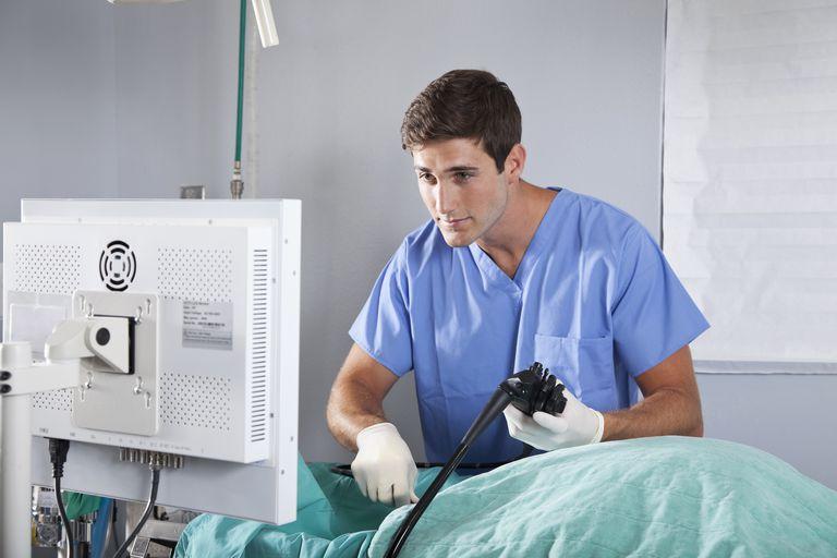 doctor performing endoscopy
