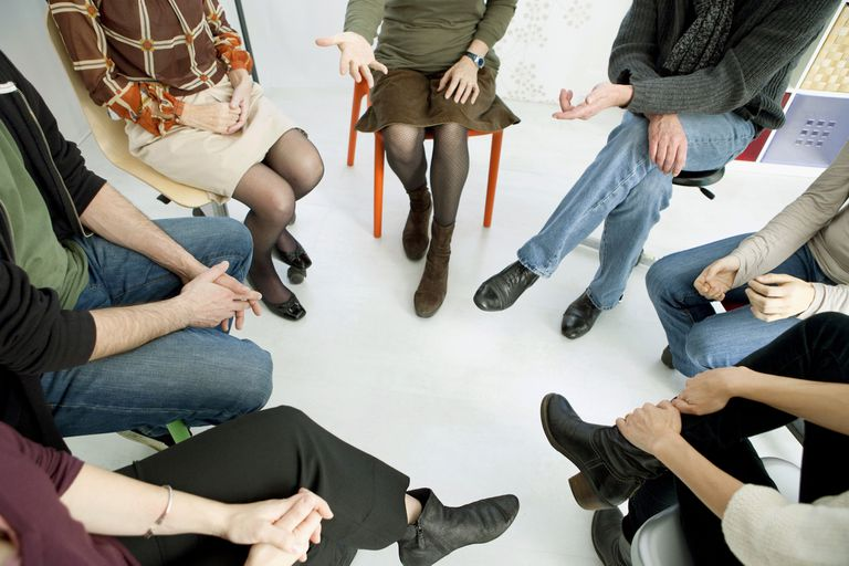 Support group in circle