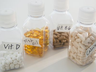 bottles of supplements on the counter