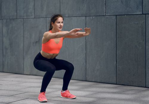 woman squat