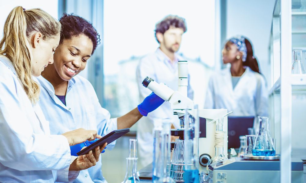 researchers studying tissue engineering