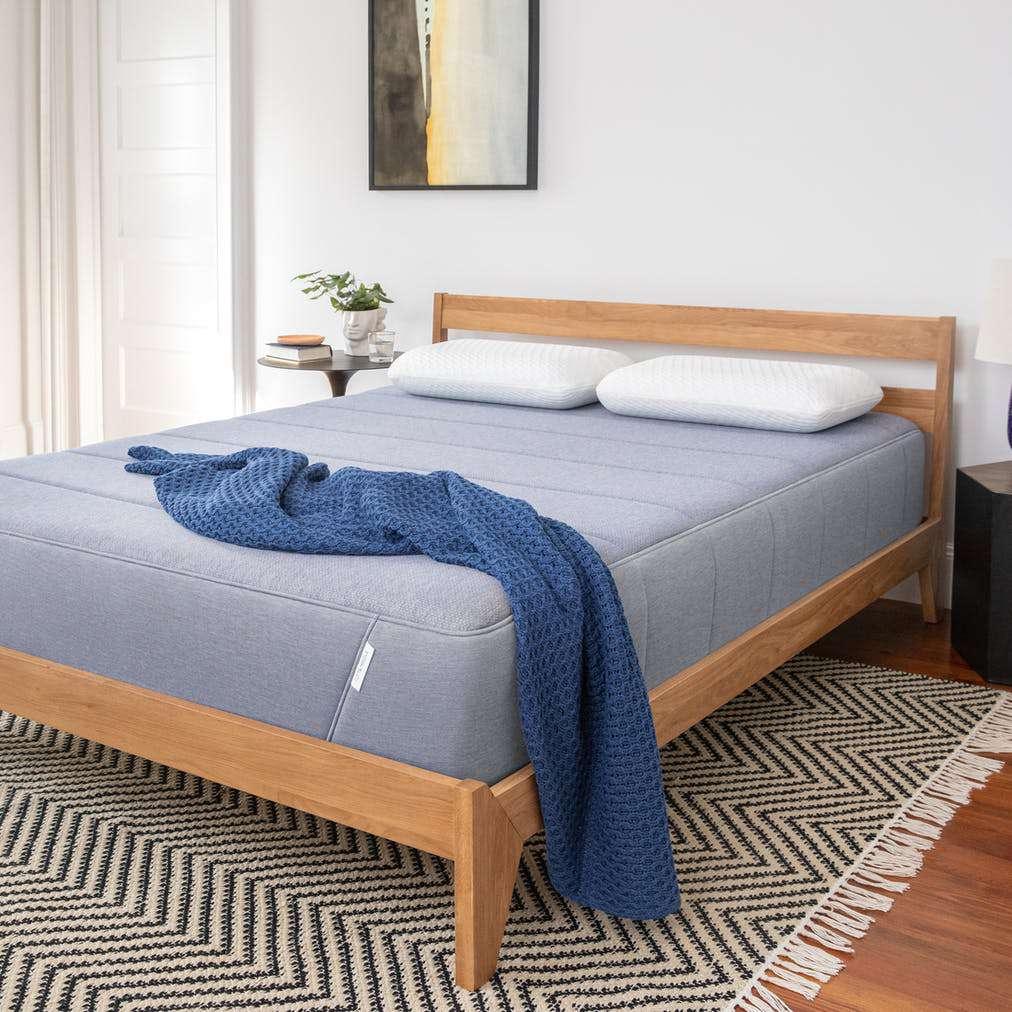 Tuft & Needle Hybrid mattress on cedar bed