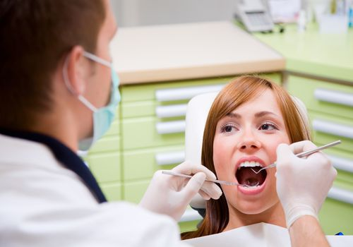woman at dentist visit