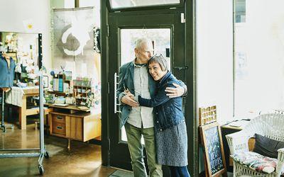 Portrait of a couple in boutique