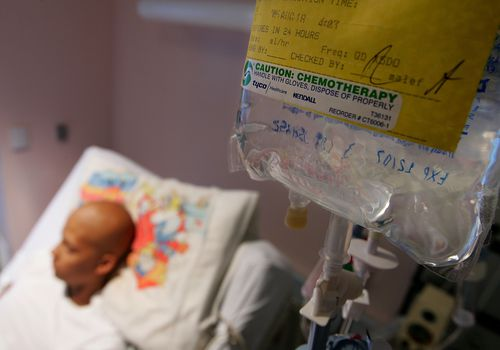 Cancer Patient having chemotherapy