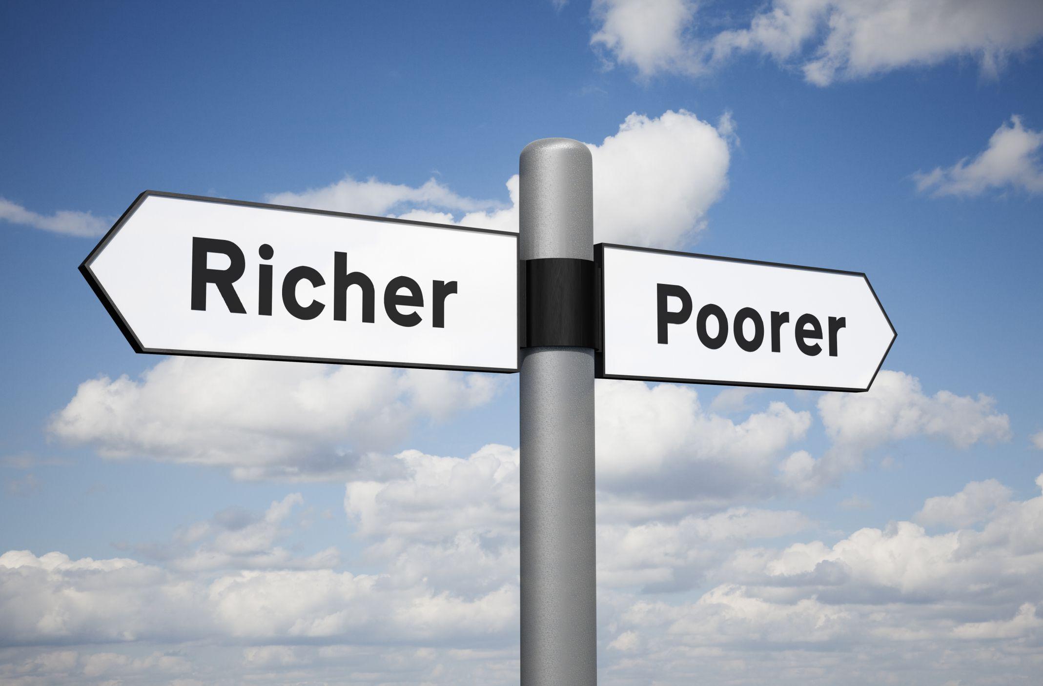 Resultado de imagem para rich and poor inequality
