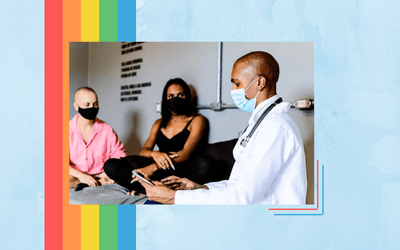 A black doctor in the home care of a transgender couple