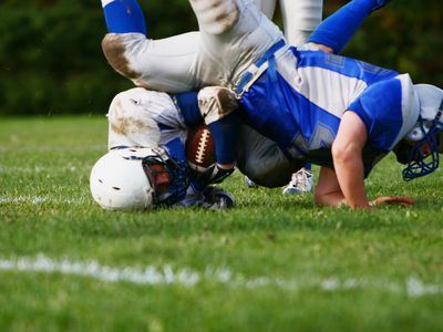 Shoulder injury on a football tackle