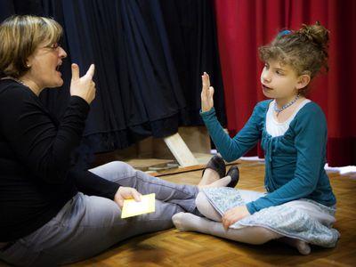 tutor with deaf child