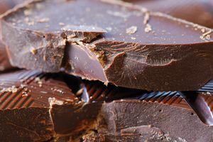 Chunks of dark chocolate.