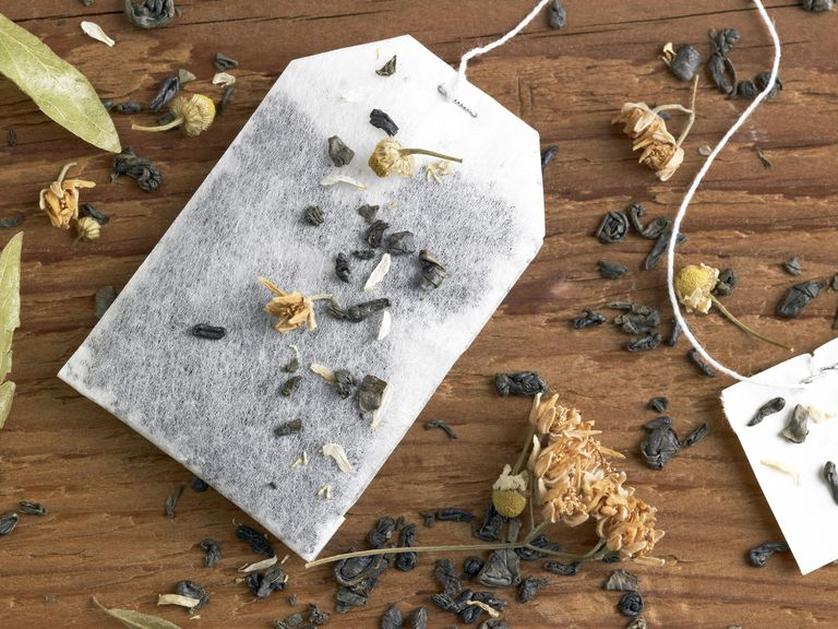Different kinds of tea and tea bag