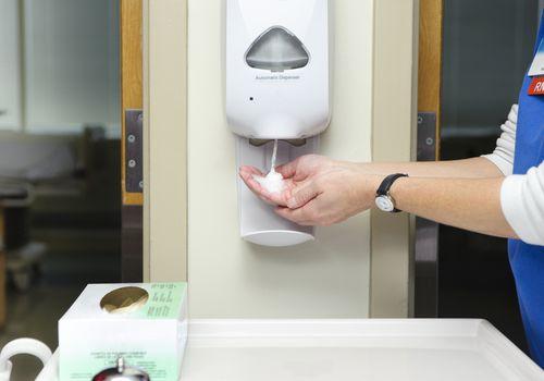 Using Hand Sanitizer
