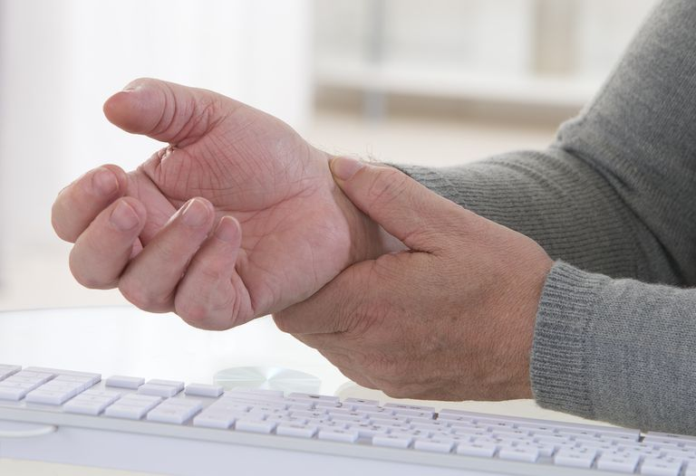 Mature Person With Painful Wrist