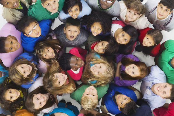 diverse group of children