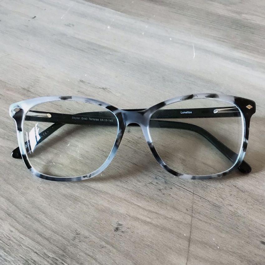 Discount Glasses Blue Light Blocking Glasses: Lunettos Skyler in Gray