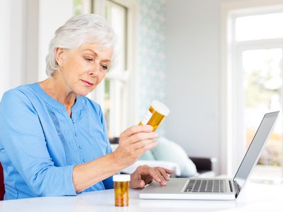 Woman reviewing prescription