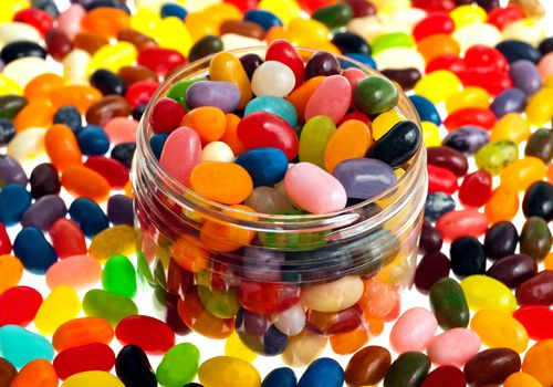 jellybeans with artificial (azo) food colorings