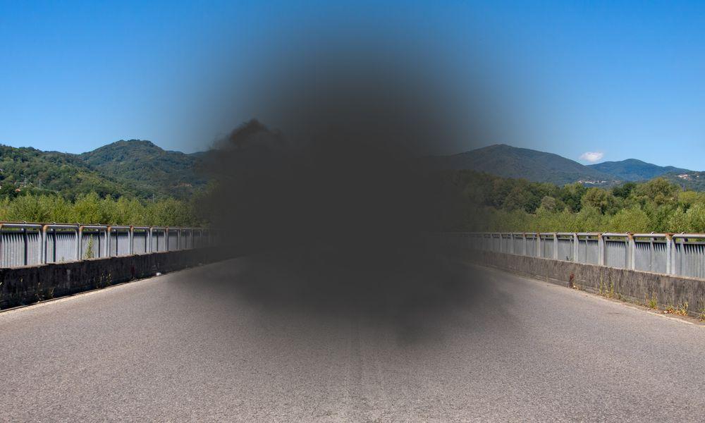 Central blindspot due to macular degeneration