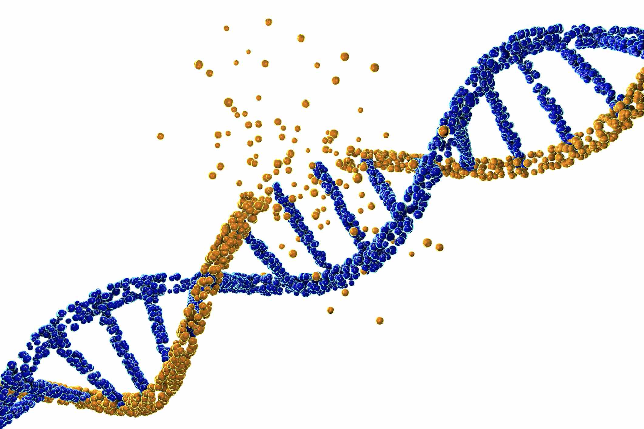 DNA damage, illustration - stock illustration