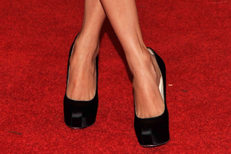 Woman wearing black heels on the red carpet
