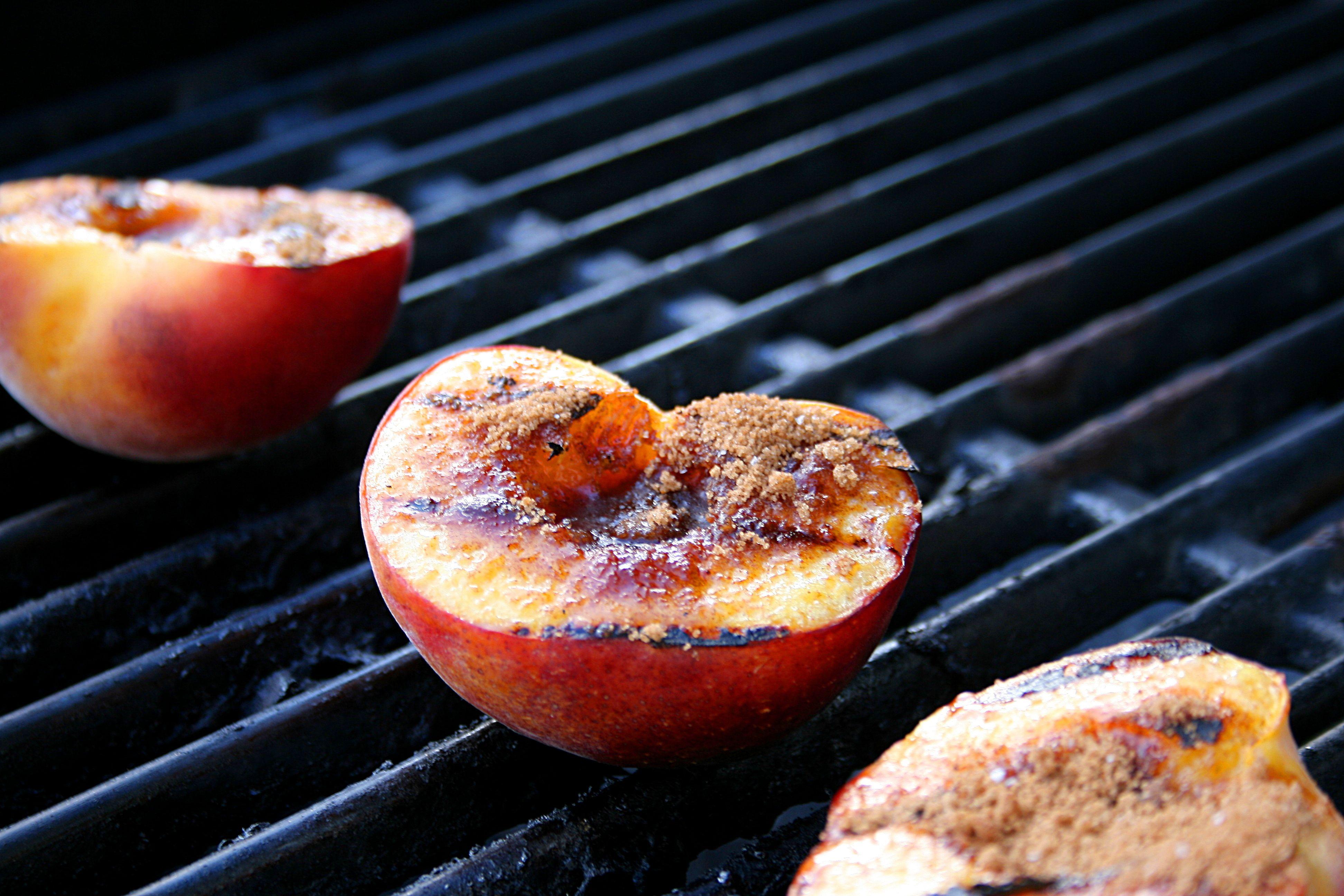 Grilled Fresh Peaches