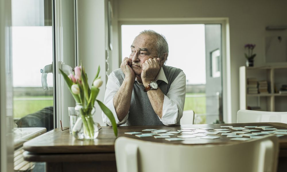 Man displaying apathy in dementia