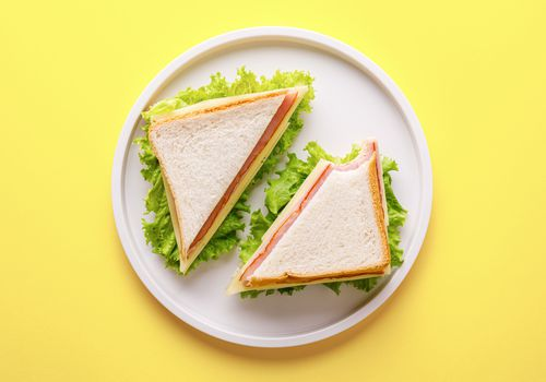 Sandwich with deli meat and cheese