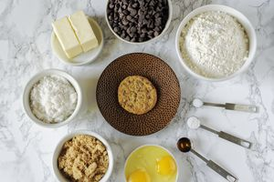 Ingredients in a cookie