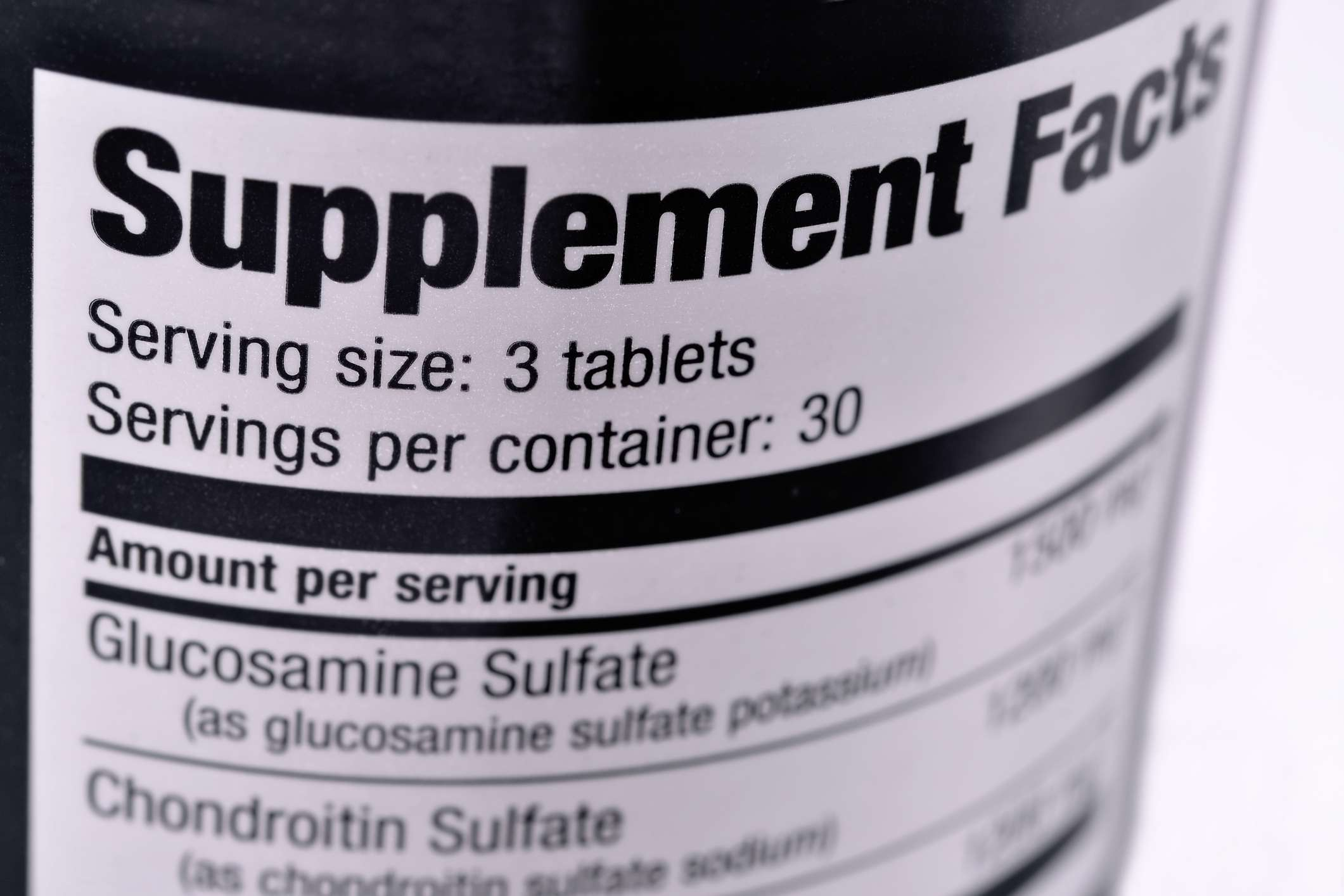 supplement containing glucosamine and chondroitin