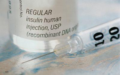 insulin and syringe