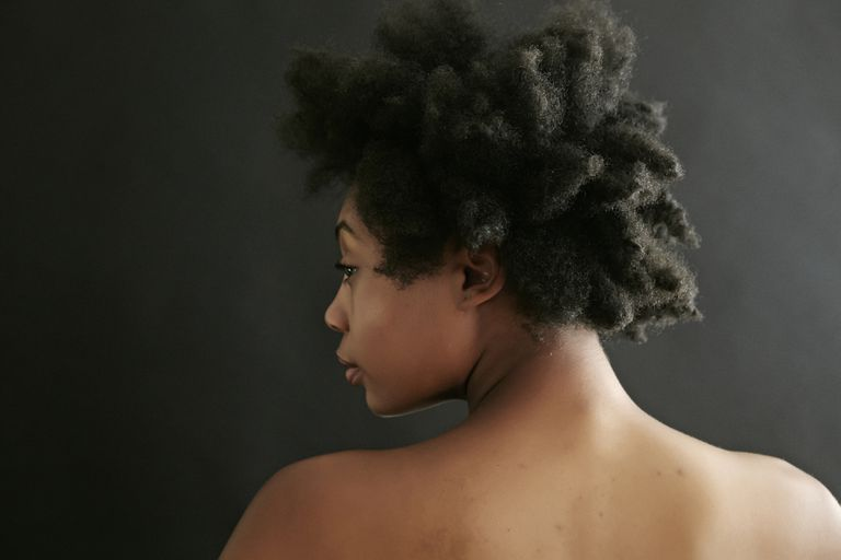 Close up of a woman's back