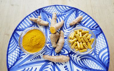 Turmeric root and supplements