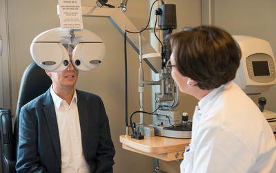 a man getting an eye exam